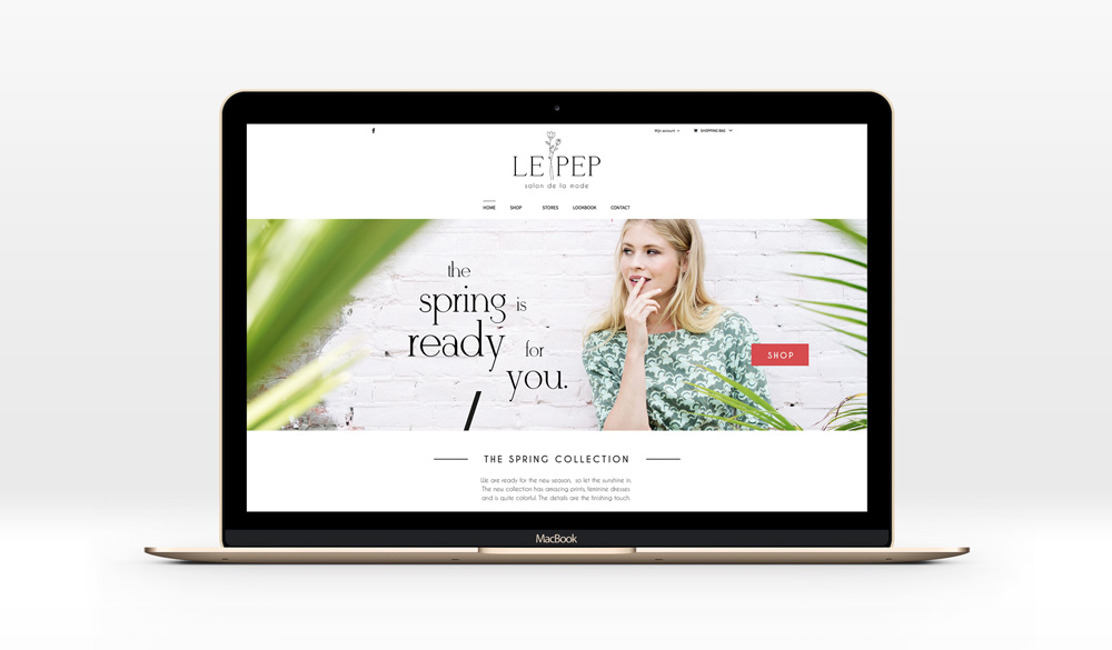 logo artwork and website design branding visual identity homepage invite invitation print poster lookbook illustration for Le Pep made by Poppyonto