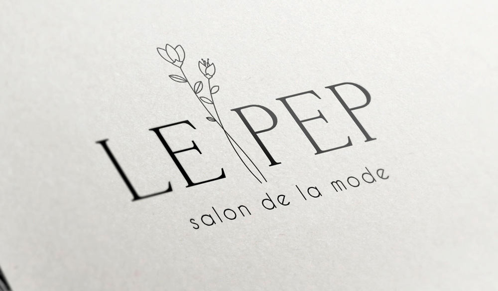 logo artwork and website design branding illustration for Le Pep made by Poppyonto