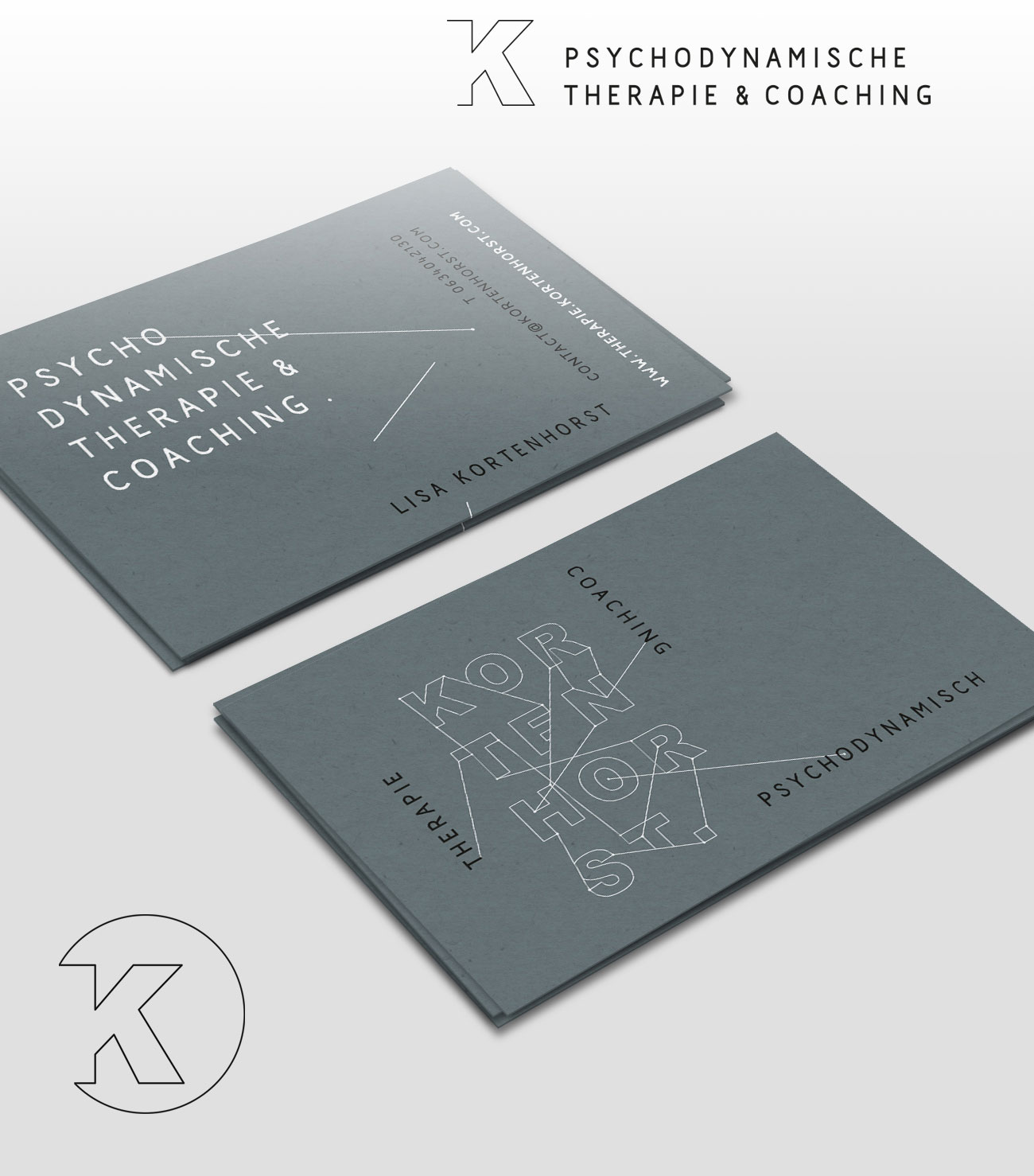 logo design branding and visual identity for Lisa Kortenhorst design by Poppyonto