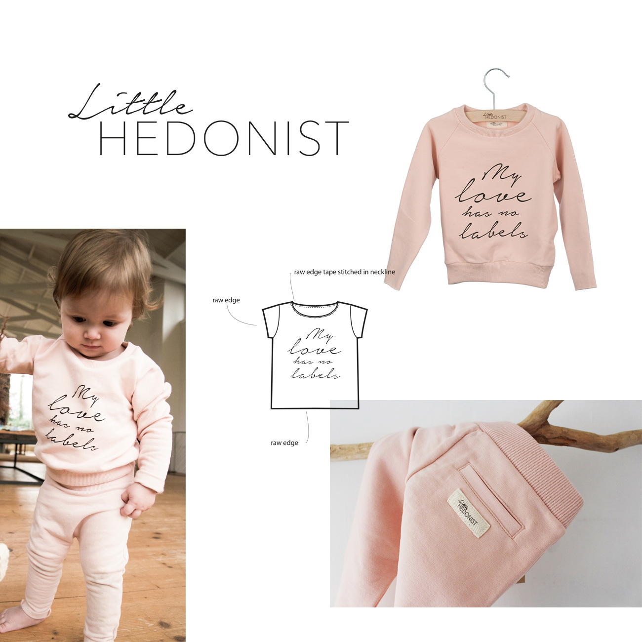 Artworks and designs created for little hedonist such as patterns for swaddles and logo branding hangtags business cards lookbooks posters styling fashion prints for this children fashion and clothing label a dutch brand made by Poppyonto