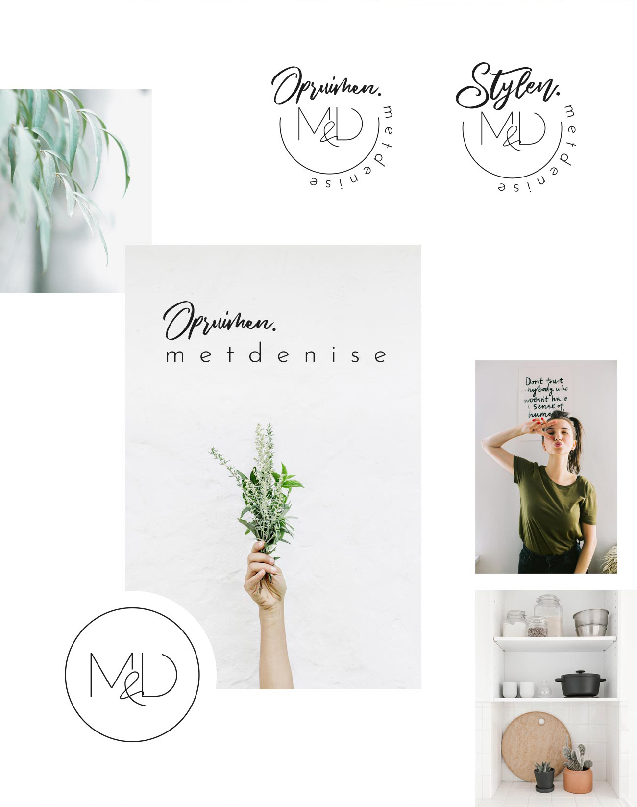 Met Denise logo design branding