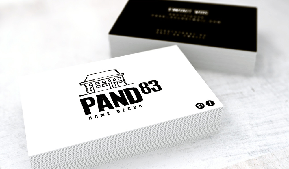 design business cards for Pand 83 made by Poppyonto