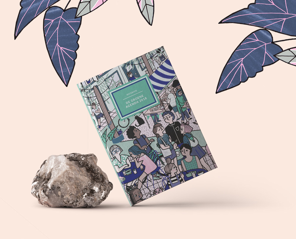 artwork and graphic design for the diary dotted rock first times diary and random acts of kindness book for paper on the rocks de groene meisjes made by poppyonto with illustrations of la nonette