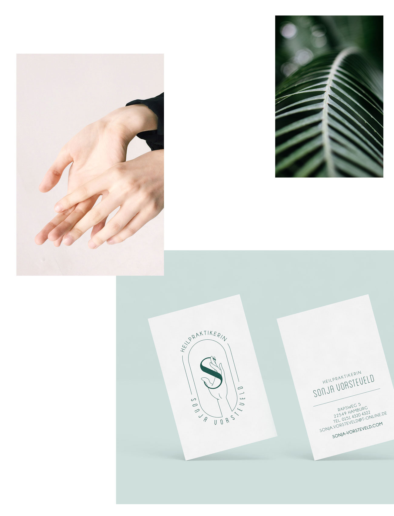 logo design branding and visual identity for Sonja Vorsteveld design by Poppyonto